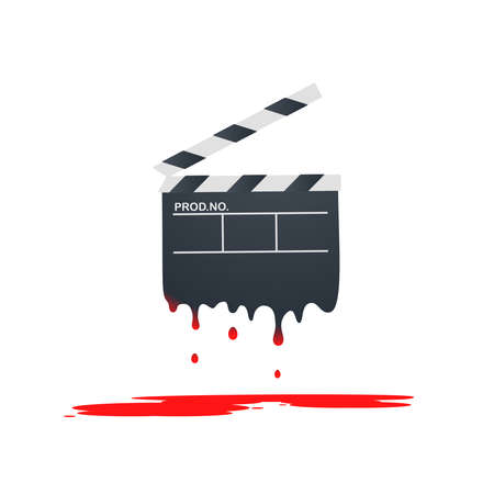 film history: horror movie Illustration