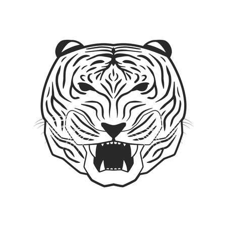 line art tiger Stock Vector - 18759262