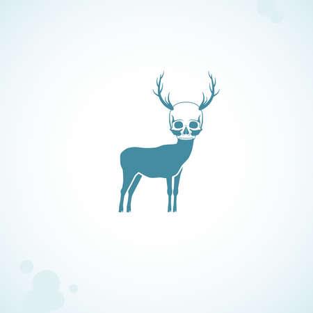 deer skull head Stock Photo - 18759256