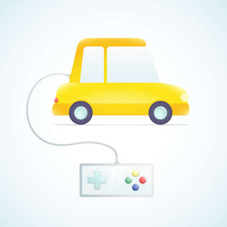 car with a gamepad Stock Vector - 18759201