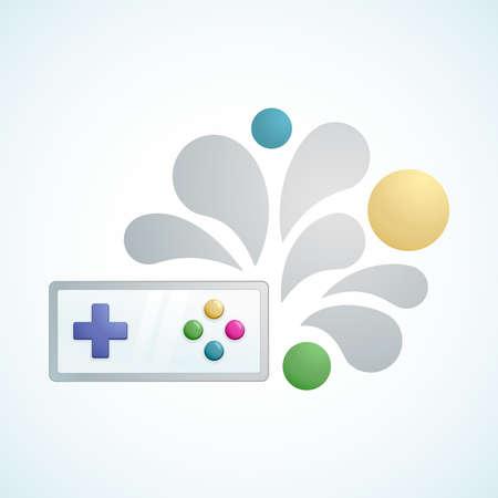 playing video game: gamepad