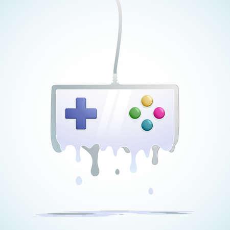 gamepad: liquid gamepad Illustration
