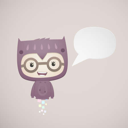 abstract baby dressed as an owl Vector