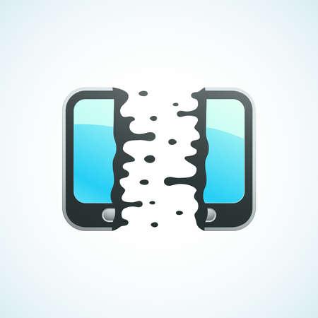 split mobile phone Stock Vector - 18759197