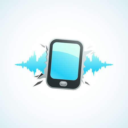 Music breaks the mobile phone Stock Vector - 18759199