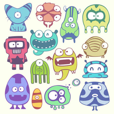 cartoon monstters Vector