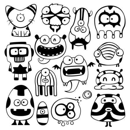 cartoon monster: cartoon monstters