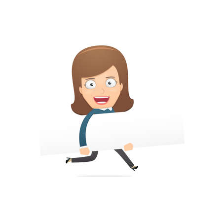 Girl manager, suitable for use in dialogues with other characters. Vector