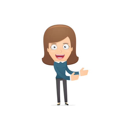 Girl manager, suitable for use in dialogs with other characters. Vector