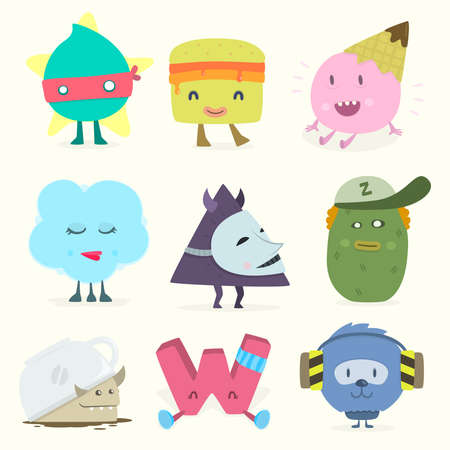 funny characters Vector