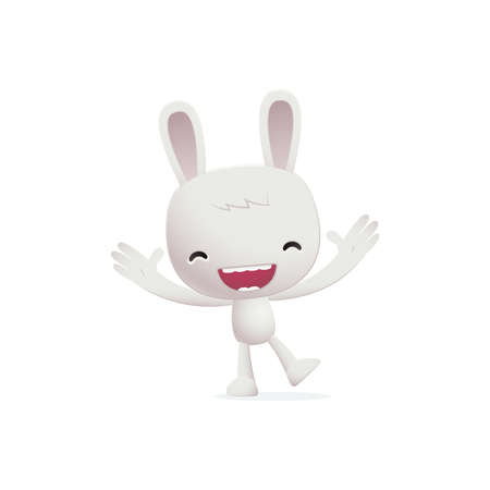 joking: bunny in various poses for use in advertising, presentations, brochures, blogs, documents and forms, etc.