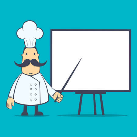 chef in various poses for use in advertising, presentations, brochures, blogs, documents and forms, etc. Vector