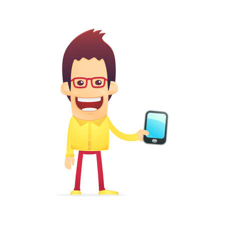 cool dude in various poses for use in advertising, presentations, brochures, blogs, documents and forms, etc. Illustration