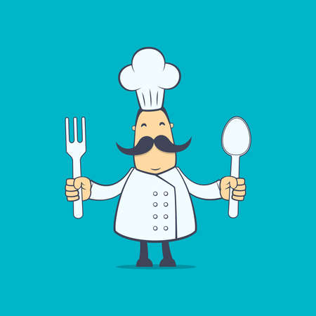 nice guy: chef in various poses for use in advertising, presentations, brochures, blogs, documents and forms, etc.