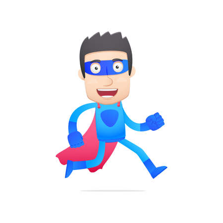 superhuman: superhero in various poses for use in advertising, presentations, brochures, blogs, documents and forms, etc.