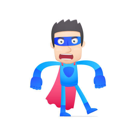 valiant: superhero in various poses for use in advertising, presentations, brochures, blogs, documents and forms, etc.