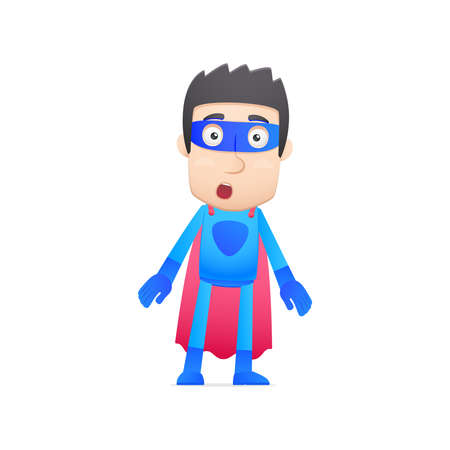 superhero in various poses for use in advertising, presentations, brochures, blogs, documents and forms, etc. Vector