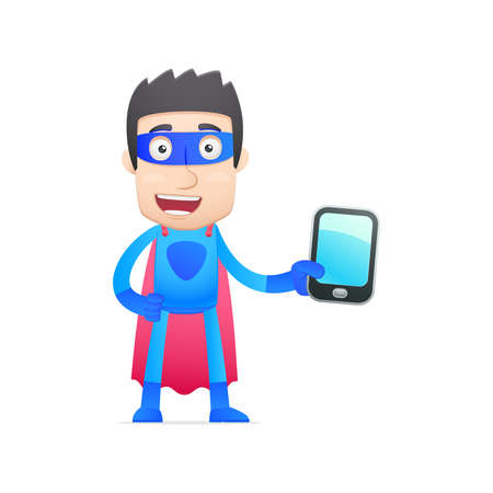 superhero in vaus poses for use in advertising, presentations, brochures, blogs, documents and forms, etc. Stock Vector - 22815003