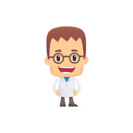 scientist. in various poses for use in advertising, presentations, brochures, blogs, documents and forms, etc. Illustration