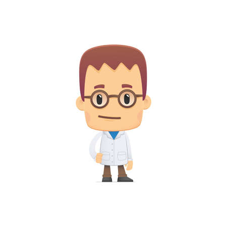 mathematician: scientist. in various poses for use in advertising, presentations, brochures, blogs, documents and forms, etc. Illustration