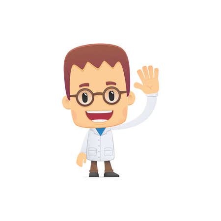 scientist. in vaus poses for use in advertising, presentations, brochures, blogs, documents and forms, etc. Stock Vector - 22815047