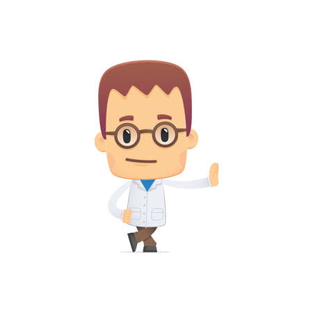 scientist. in various poses for use in advertising, presentations, brochures, blogs, documents and forms, etc. 矢量图片