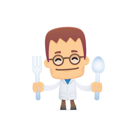 person appetizer: scientist. in various poses for use in advertising, presentations, brochures, blogs, documents and forms, etc. Illustration