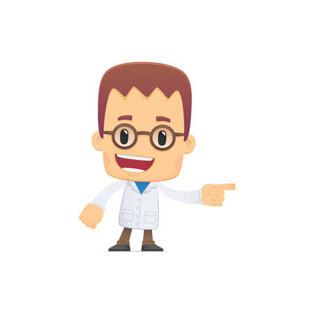 scientist. in various poses for use in advertising, presentations, brochures, blogs, documents and forms, etc. Vector