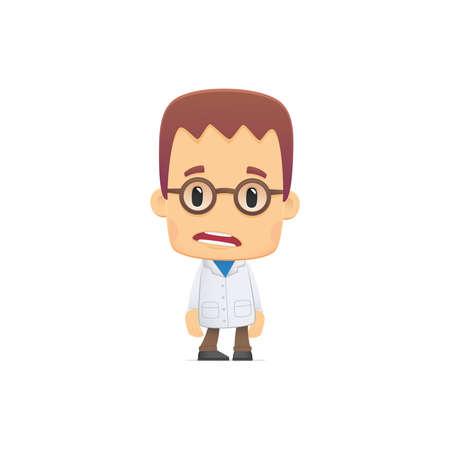 wetenschapper. in verschillende poses voor gebruik in reclame, presentaties, brochures, blogs, documenten en formulieren, etc.