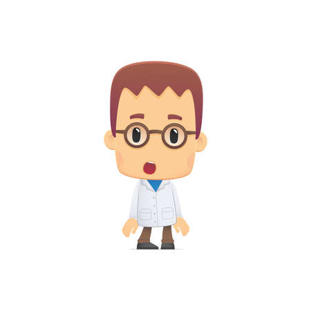 see a doctor: scientist. in various poses for use in advertising, presentations, brochures, blogs, documents and forms, etc. Illustration