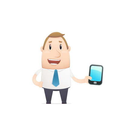 manager in vaus poses for use in advertising, presentations, brochures, blogs, documents and forms, etc. Stock Vector - 22815239