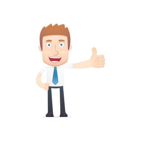 employee satisfaction: office worker in various poses for use in advertising, presentations, brochures, blogs, documents and forms, etc.