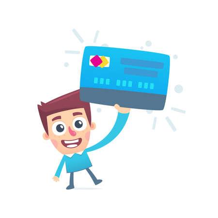 Everyone has a debit card Stock Vector - 25256194