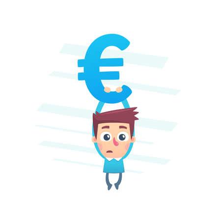 faillite: Sur le bord de la faillite Illustration