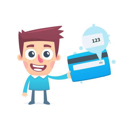 safe money: Card verification value Illustration