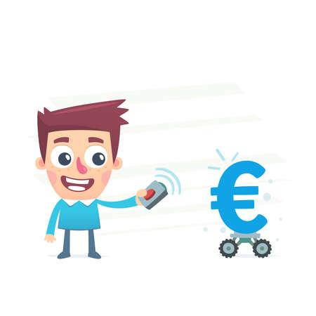 earnings: Automatisierte Geld Ergebnis Illustration