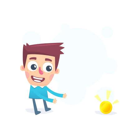 startled: Accidentally luck Illustration