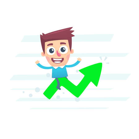 At the peak of commercial success Vector