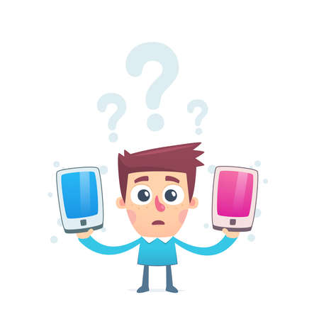 How to choose a convenient smartphone Stock Vector - 25303880