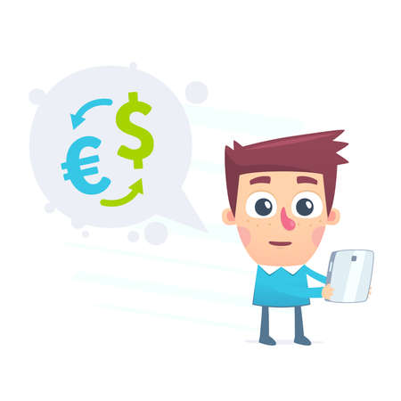 convert: Currency conversion using the online application Illustration