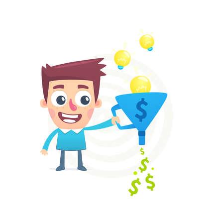 originalidad: Talento para convertir las ideas en dinero Vectores
