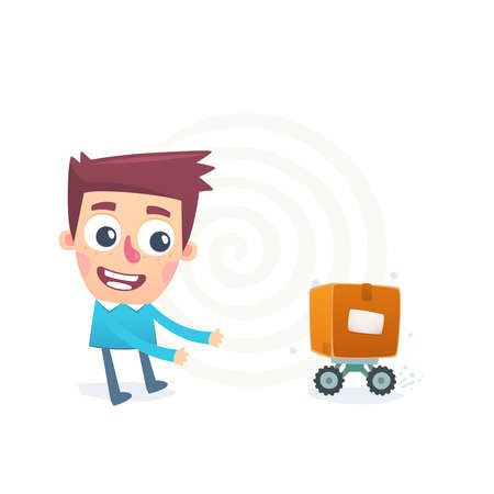 Automated mail delivery Stock Vector - 25304048