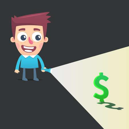 make money: Find a way to make money Illustration