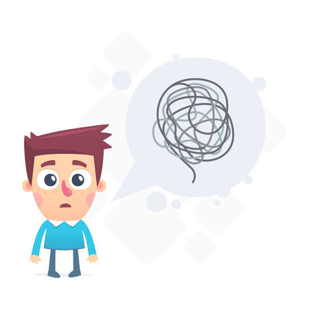 dialogue about difficult problems solved 일러스트