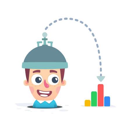 indicators of brain Stock Vector - 25527862