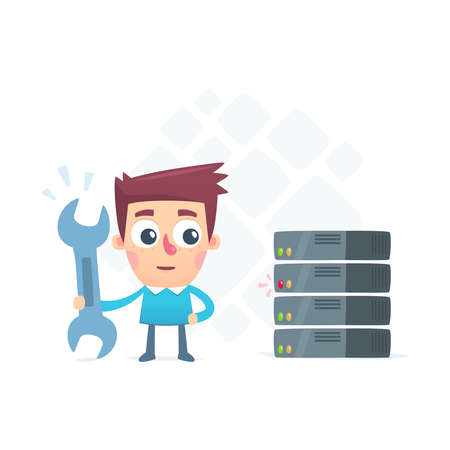 recondition: setting up a server Illustration