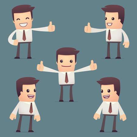 reconocimiento: conjunto de caracteres simples universales en diferentes poses. gerente. Utilice el carácter en poses de diálogo con otros personajes de esta serie