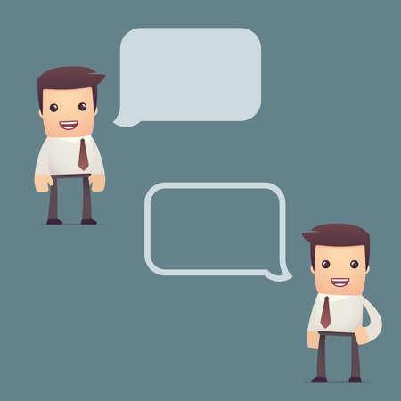 converse: Reihe von einfachen universellen Zeichen in verschiedenen Posen. Manager. Verwenden Sie das Zeichen im Dialog Posen mit anderen Charakteren aus dieser Serie