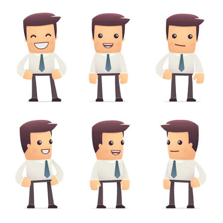 Accountant: set of manager character in different interactive  poses