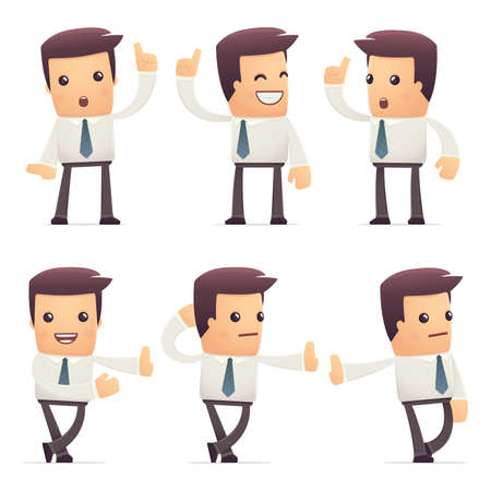 economist: set of manager character in different interactive  poses
